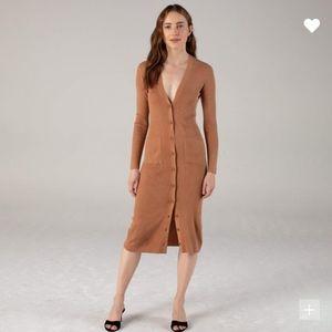 Naadam Long Sleeve Cashmere Cardigan Dress NWT
